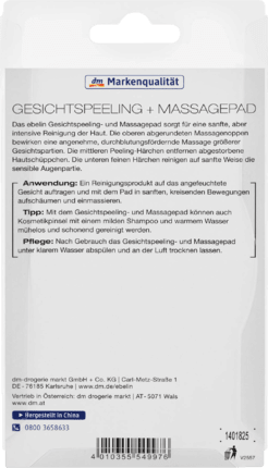 Balea Brosse Visage Gommage & Pad Massage