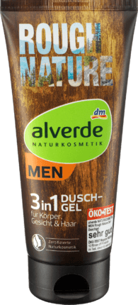 Alverde Gel Douche Rough Nature 3en1, 200 ml