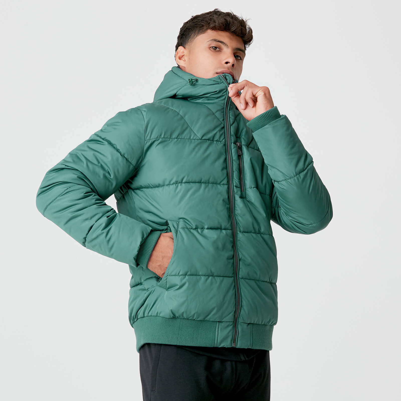 Myprotein Pro-Tech Protect Puffer Jacket - Pine   Hbito.ma