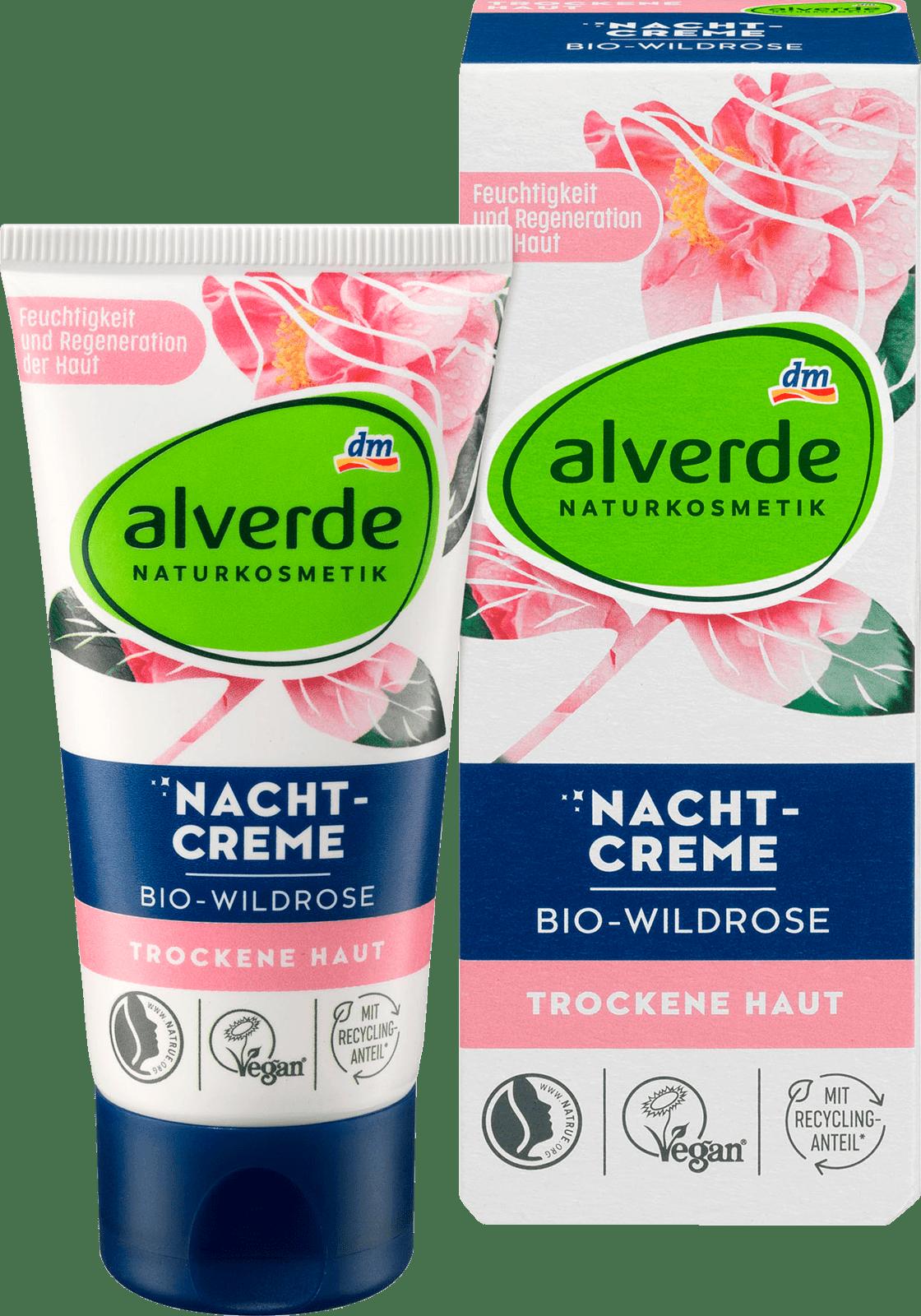 Alverde Crème de Nuit à la Rose Sauvage Bio