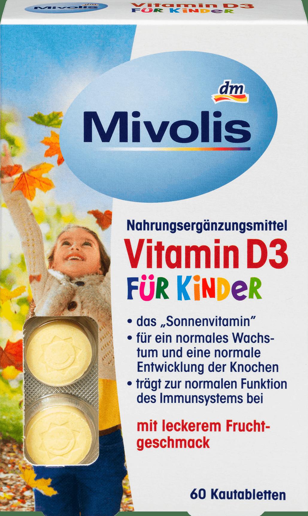 Vitamine D3 pour Enfants, Comprimés à Croquer